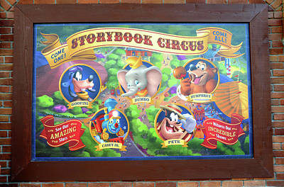Photograph - Storybook Circus Characters Sign by David Lee Thompson