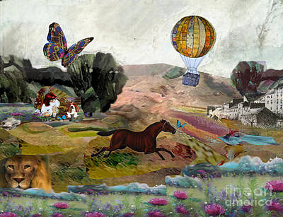 Little Girls Mixed Media - Storybook by Marcy Orendorff