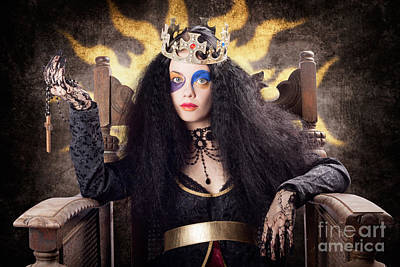 Photograph - Storybook Queen Jester Holding Religious Cross by Jorgo Photography - Wall Art Gallery