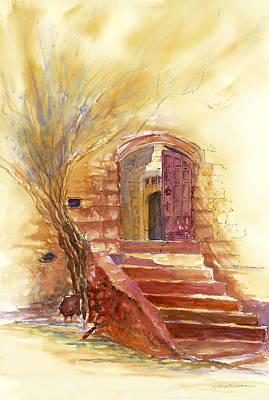 Painting - Storybook Stairs by Tara Moorman