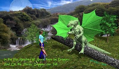 Digital Art - Storytelling Dragon by Bob Shimer