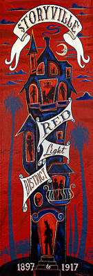 Storyville Red Light District Art Print