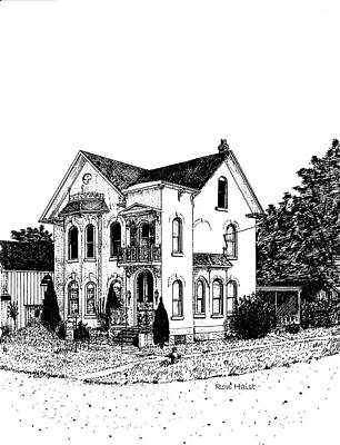 Drawing - Stouffville House by Ron Haist