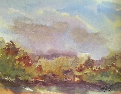 Stourhead Woods Art Print by Samantha Adams