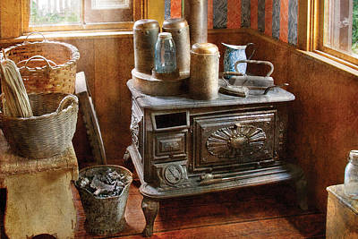 Stove - Remember The Good Ol Days When  Art Print by Mike Savad
