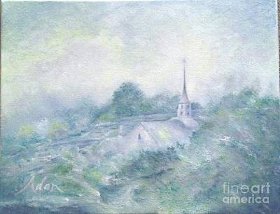 Painting - Stowe Community Church From Little River Bridge by Felipe Adan Lerma