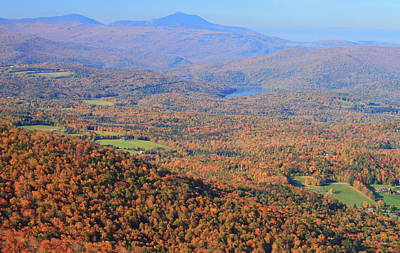 Photograph - Stowe Pinnacle View To Camels Hump In Autumn by John Burk