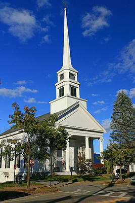 Photograph - Stowe, V T Community Church by Allen Beatty
