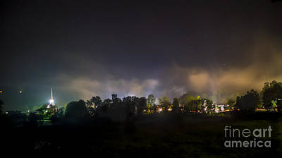 Photograph - Stowe Vermont After Dark. by New England Photography