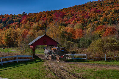 Photograph - Stowe Vermont Carriage Ride by Jeff Folger