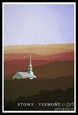Stowe Vermont Painting - Stowe Vermont Fall Poster by Edward Fielding