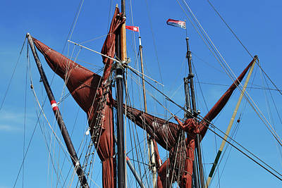 Photograph - Stowed Sails. by Terence Davis