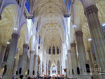 Photograph - St.patrick's Cathedral Restored by Ed Weidman
