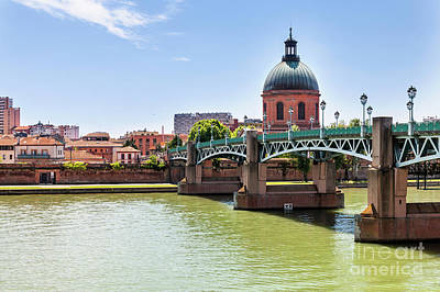 Grave Photograph - St.pierre Bridge In Toulouse by Elena Elisseeva