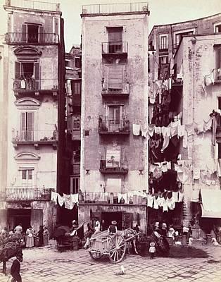 Photograph - Strada Di Santa Lucia, Napoli C. 1880 - 1895 by Vintage Printery