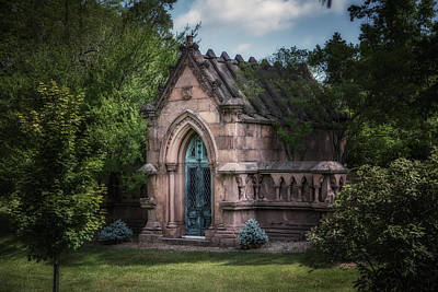 Cemetery Photograph - Strader Mausoleum by Tom Mc Nemar