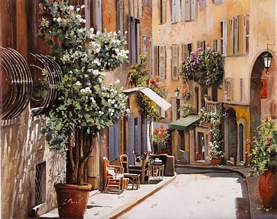 Shadow Painting - stradina di Grasse by Guido Borelli