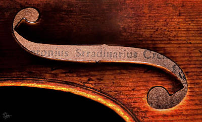 Photograph - Stradivarius Label by Endre Balogh