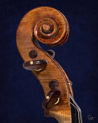 Photograph - Stradivarius Scroll by Endre Balogh