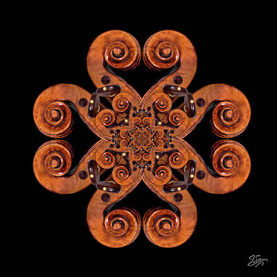 Photograph - Stradivarius Scroll Mandala by Endre Balogh