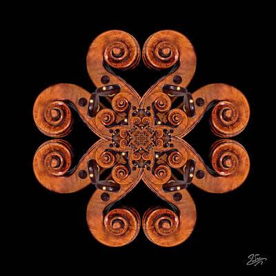 Photograph - Stradivarius Scroll Mandala by Endre Balogh