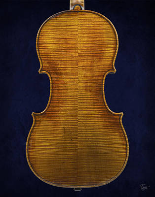 Photograph - Stradivarius Violin Back Closeup by Endre Balogh