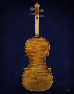 Photograph - Stradivarius Violin Back by Endre Balogh