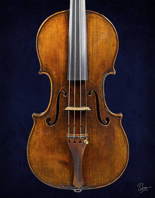Photograph - Stradivarius Violin Front Closeup by Endre Balogh