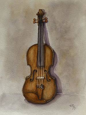 Painting - Stradivarius Violin by Kelly Mills