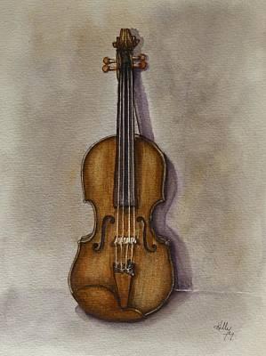 Painting - Stradivarius Violin by Kelly Mills