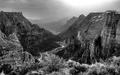 Photograph - Straight Down Zion Canyon by Wayne King