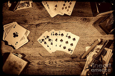Photograph - Straight Flush by American West Legend By Olivier Le Queinec