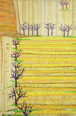 Tapestry - Textile - Straight Furrows by Linda Beach