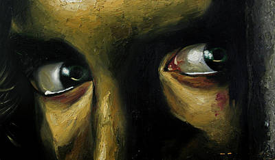 Limited Edition Painting - Straight In The Eye by Aurel Nukaj