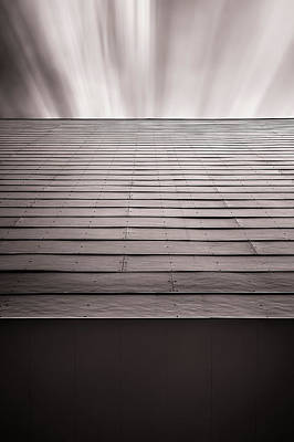 Rivets Photograph - Straight Line Above by Scott Norris