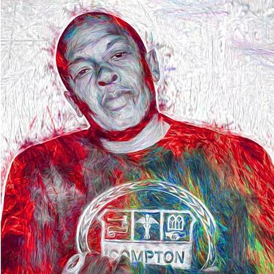 Fineartamerica Wall Art - Photograph - Straight Outta Canvas Dr Dre #drdre by David Haskett II