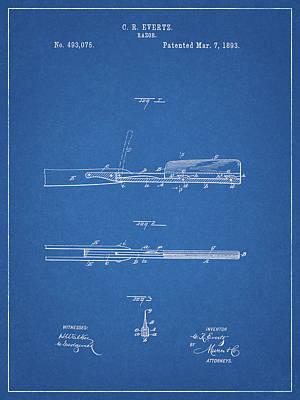 Photograph - Straight Razor Patent by Dan Sproul