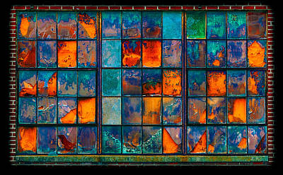 Oranger Photograph - Strained Glass Window by Steven Maxx