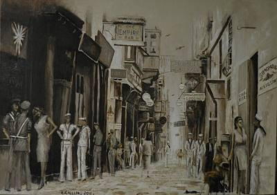 Painting - Strait Street Valletta by Tony Calleja