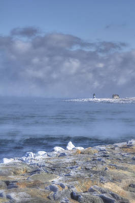 Photograph - Straitsmouth Island Lighthouse - Rockport Ma by Joann Vitali