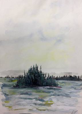 Painting - Strand Of Trees - Windy Day - Nwt by Desmond Raymond