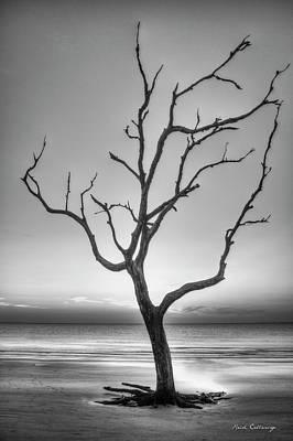 Photograph - Stranded 2 Driftwood Beach Sunrise Jekyll Island Georgia Art by Reid Callaway