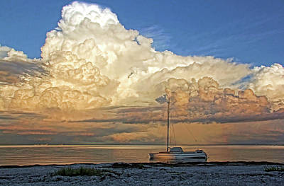 Seascape Photograph - Stranded 2 by HH Photography of Florida