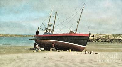Photograph -    Stranded At Gweedore Donegal by Val Byrne