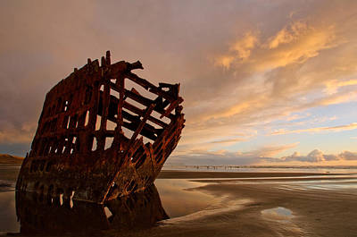 Peter Iredale Photograph - Stranded by Dan Mihai