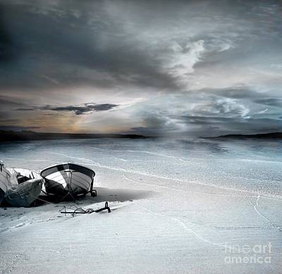 Waterscape Photograph - Stranded by Jacky Gerritsen