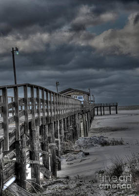 Photograph - Stranded Pier by David Bearden