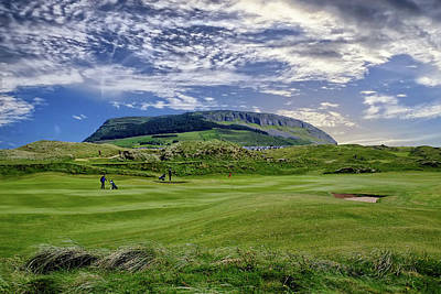 Digital Art - Strandhill Golf Course And Knocknarae by John Carver