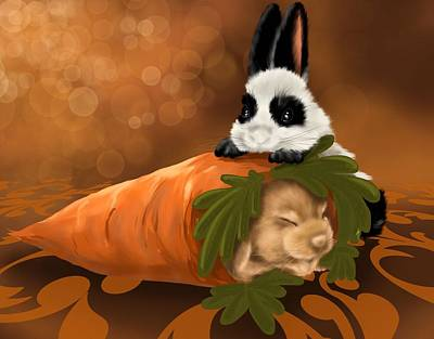 Digital Painting - Strange Carrot by Veronica Minozzi