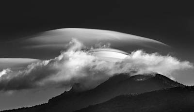 Photograph -  Lenticular Cloud Formation  by Ken Barrett